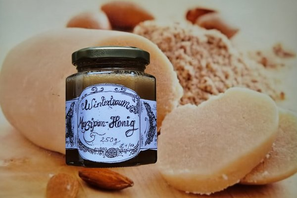 Wintertraum Marzipan in Honig 250g Honig Marzipan